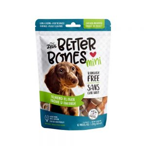 Better Bones os arôme d'amandes enrobés de poulet