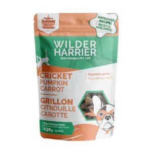 Gâteries aux grillons, à la citrouille et carrottes de Wilder Harrier