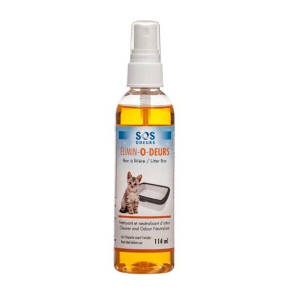 Nettoyant et neutralisant d'odeur de bac à litière 114 ml SOS Odeurs